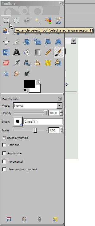 how to show toolbox in gimp